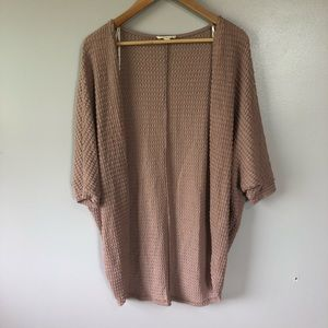 Rolla Coster Dusty Rose Waffle Batwing Cardigan S
